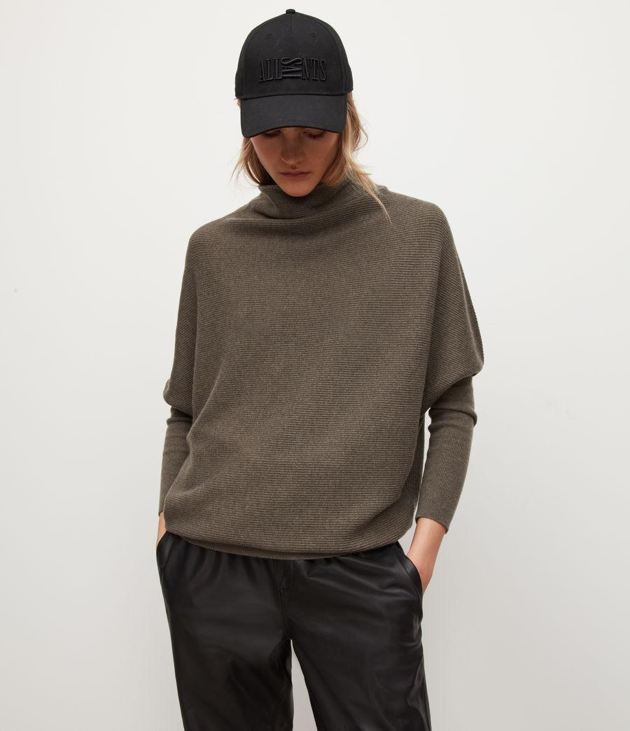 Womens Ridley Wool-Cashmere Blend Sweater (loch_brown_marl) - Image 3