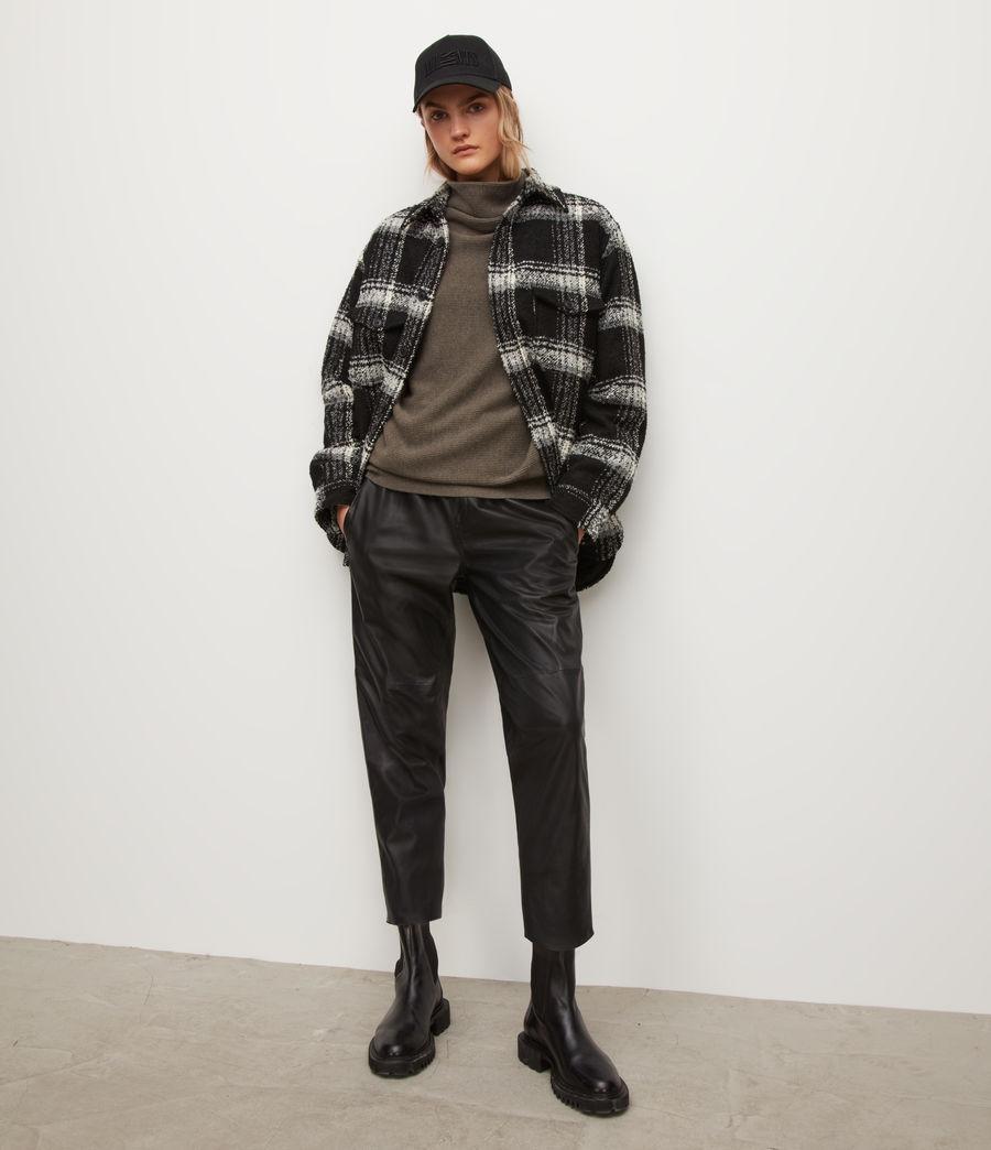 Womens Ridley Wool-Cashmere Blend Sweater (loch_brown_marl) - Image 4