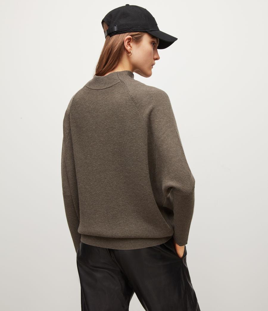 Womens Ridley Wool-Cashmere Blend Sweater (loch_brown_marl) - Image 5
