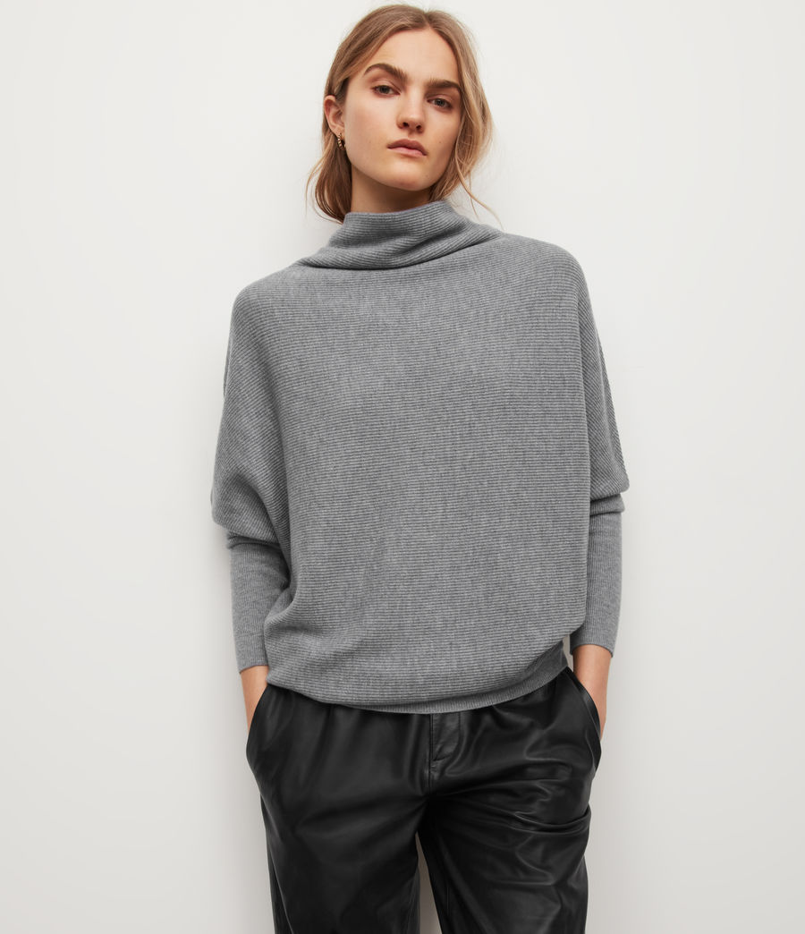 Women's Ridley Wool-Cashmere Blend Jumper (thunder_grey) - Image 1