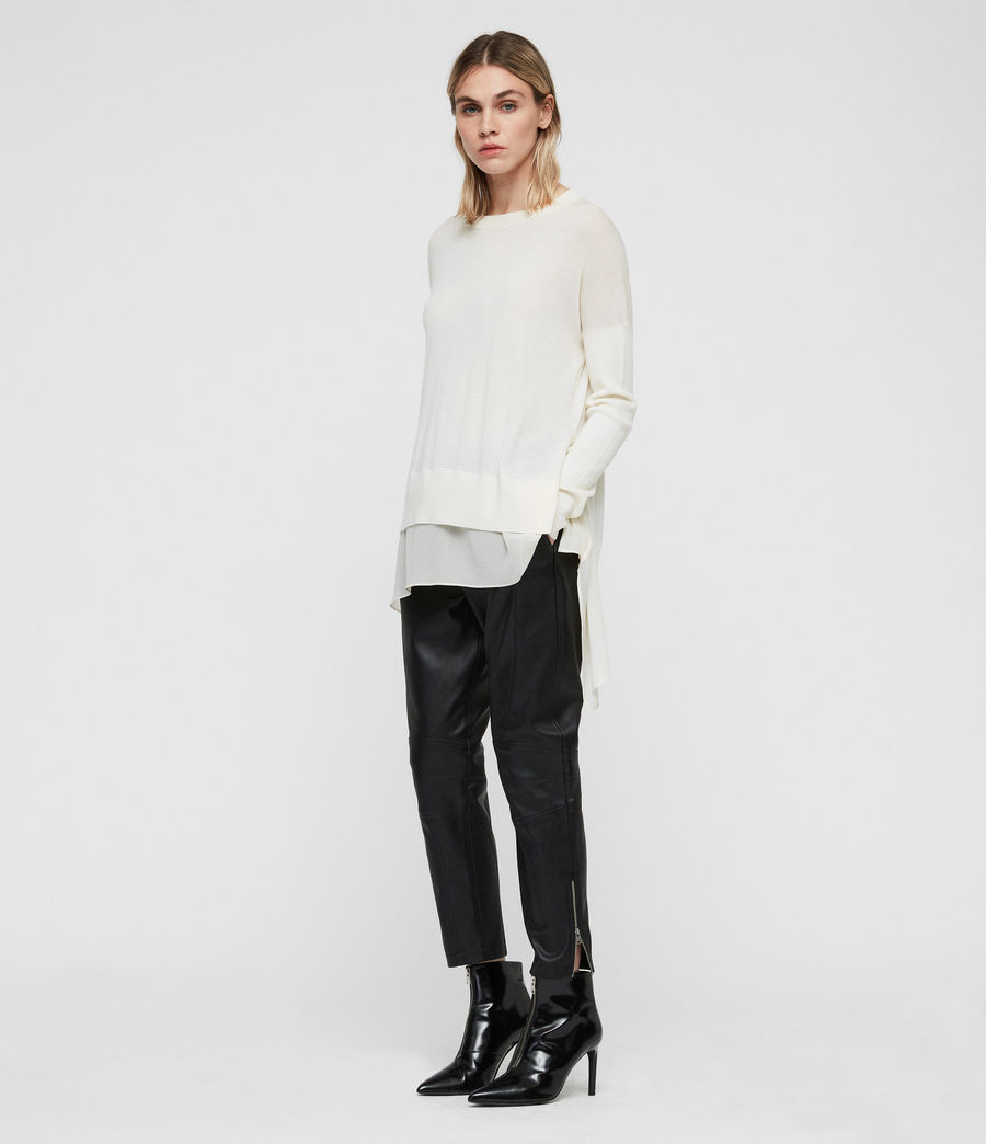 Womens Libby Crew Neck Sweater (chalk_white) - Image 1