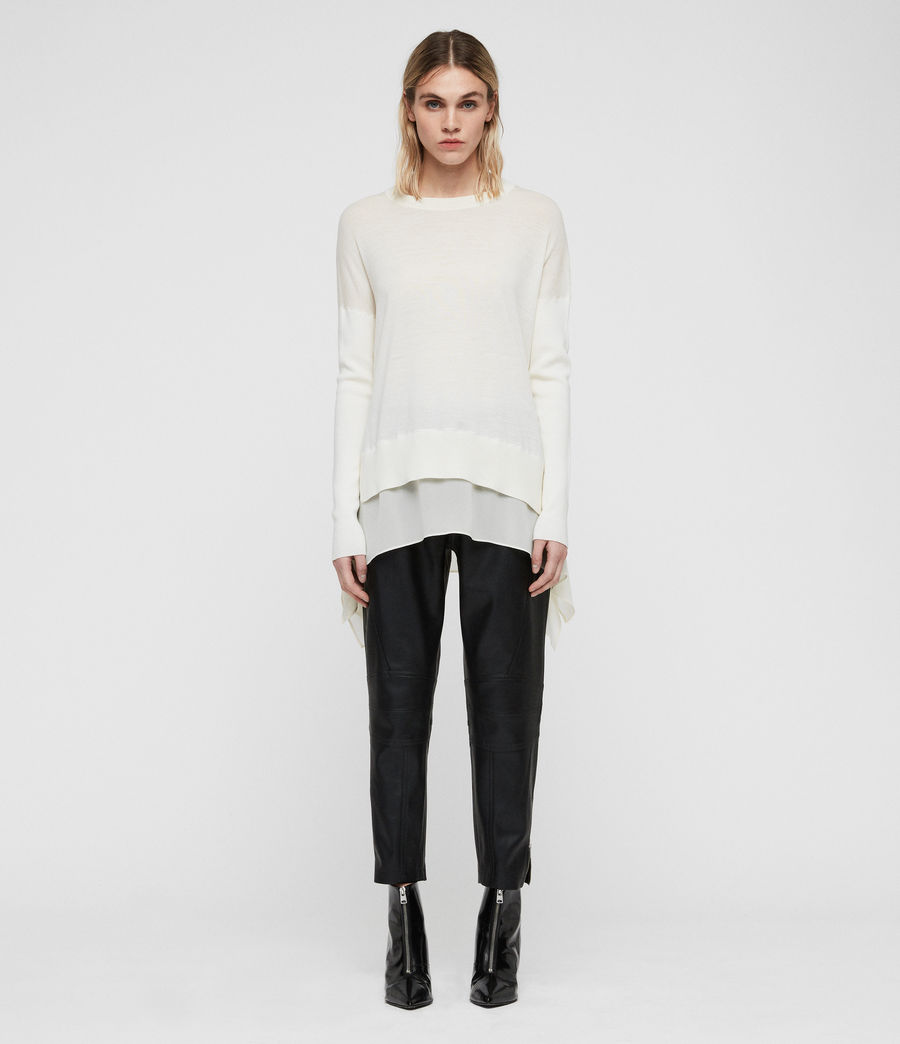 Women's Libby Crew Neck Jumper (chalk_white) - Image 3