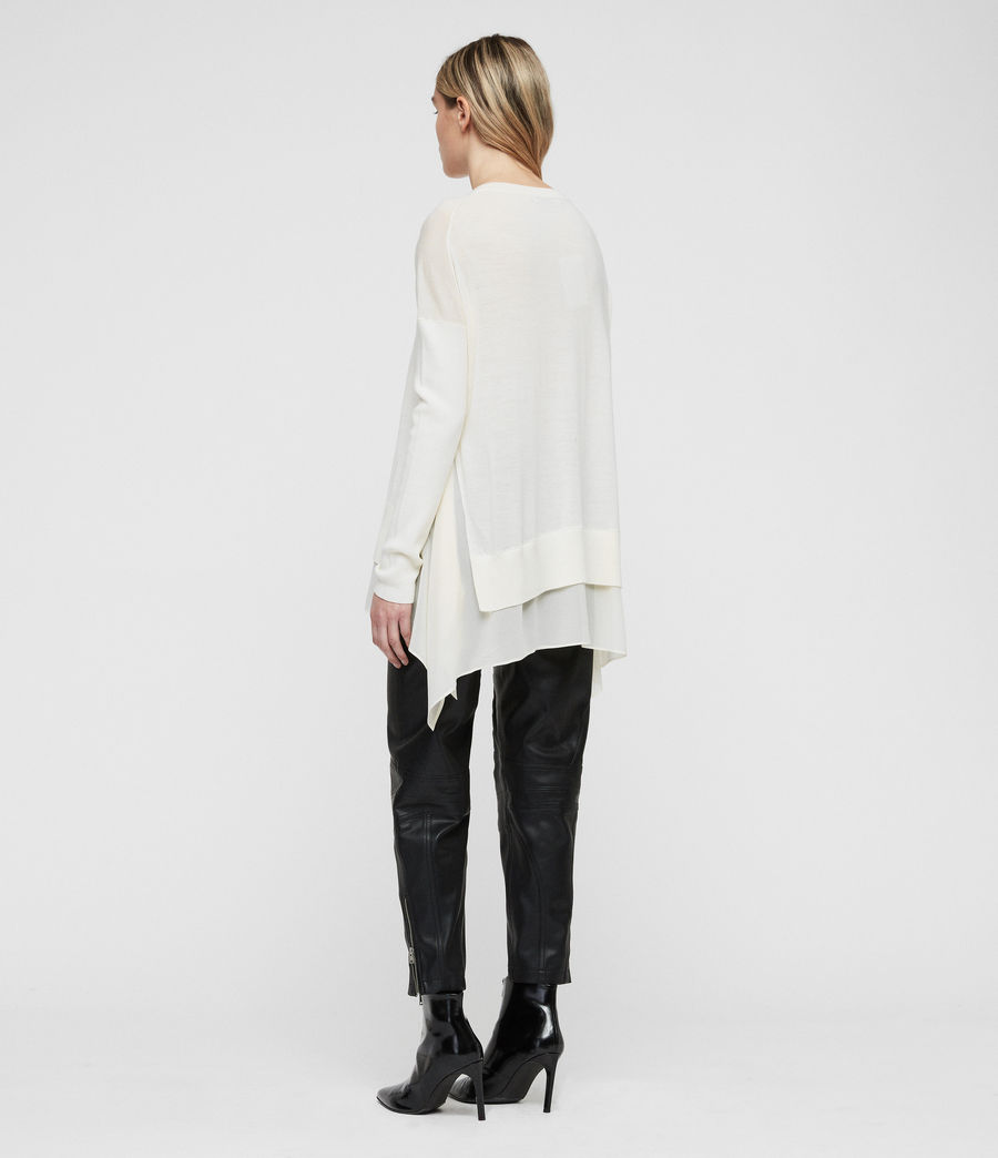Women's Libby Crew Neck Jumper (chalk_white) - Image 4