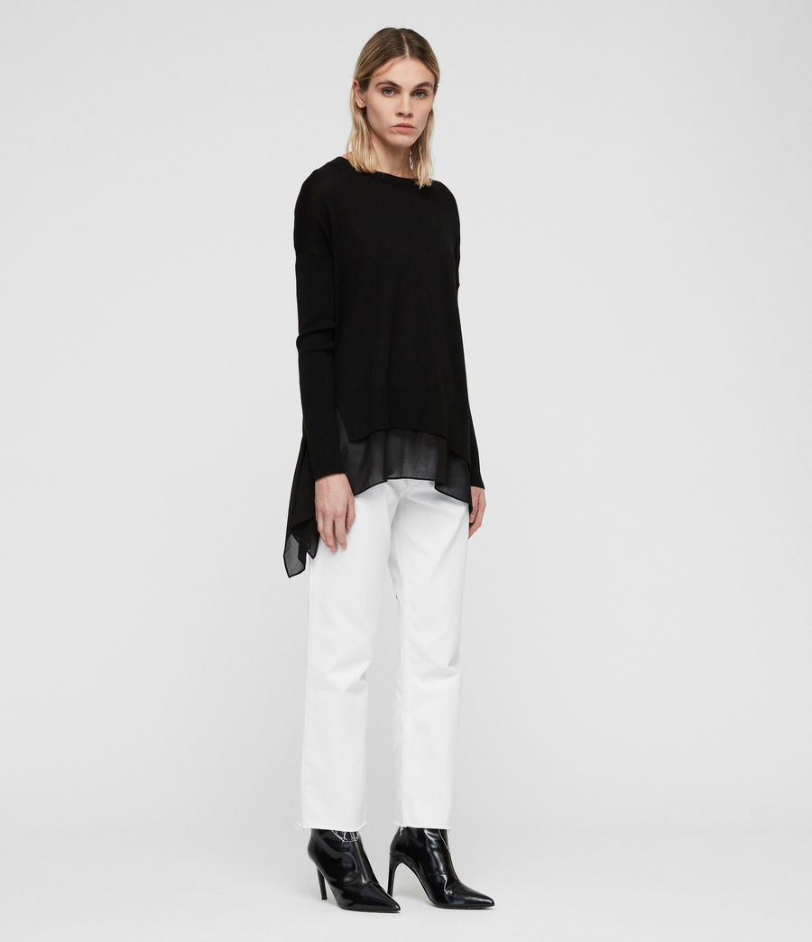 Women's Libby Crew Neck Jumper (black) - Image 3