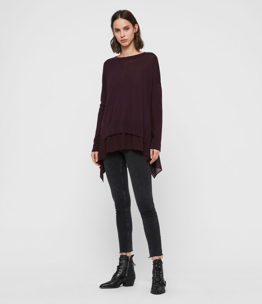 Womens Libby Jumper (port_purple) - Image 2