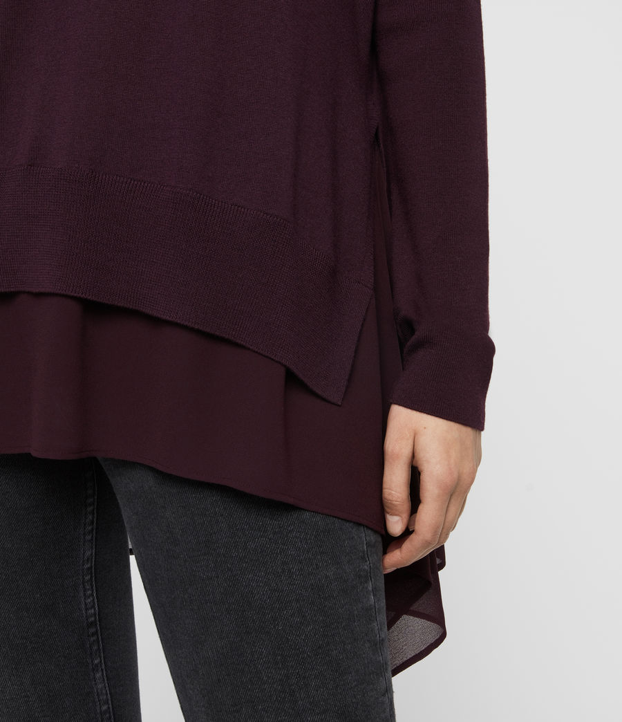 Women's Libby Crew Neck Jumper (port_purple) - Image 4