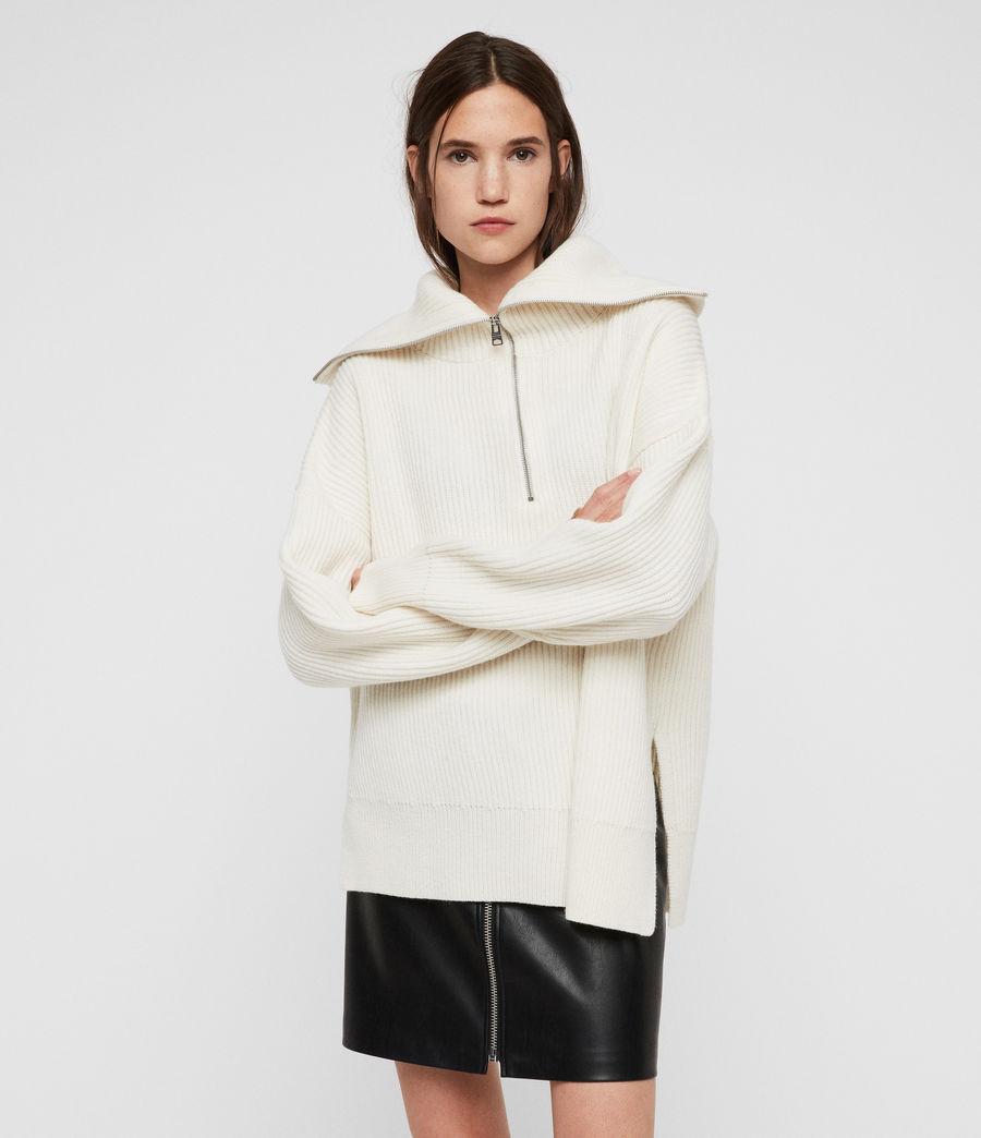 Mujer Jersey de Cuello Alto Ami (chalk_white) - Image 1