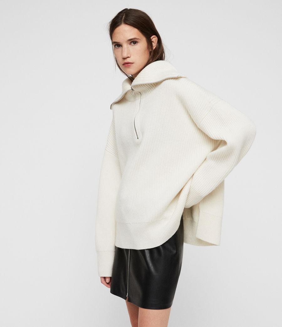 Mujer Jersey de Cuello Alto Ami (chalk_white) - Image 4
