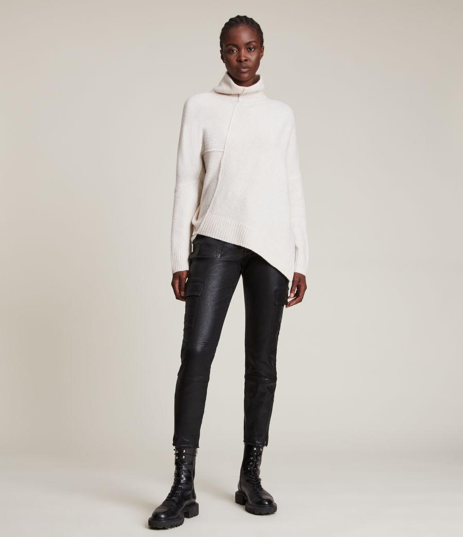 Womens Lock Roll Neck Sweater (alabaster_white) - Image 1