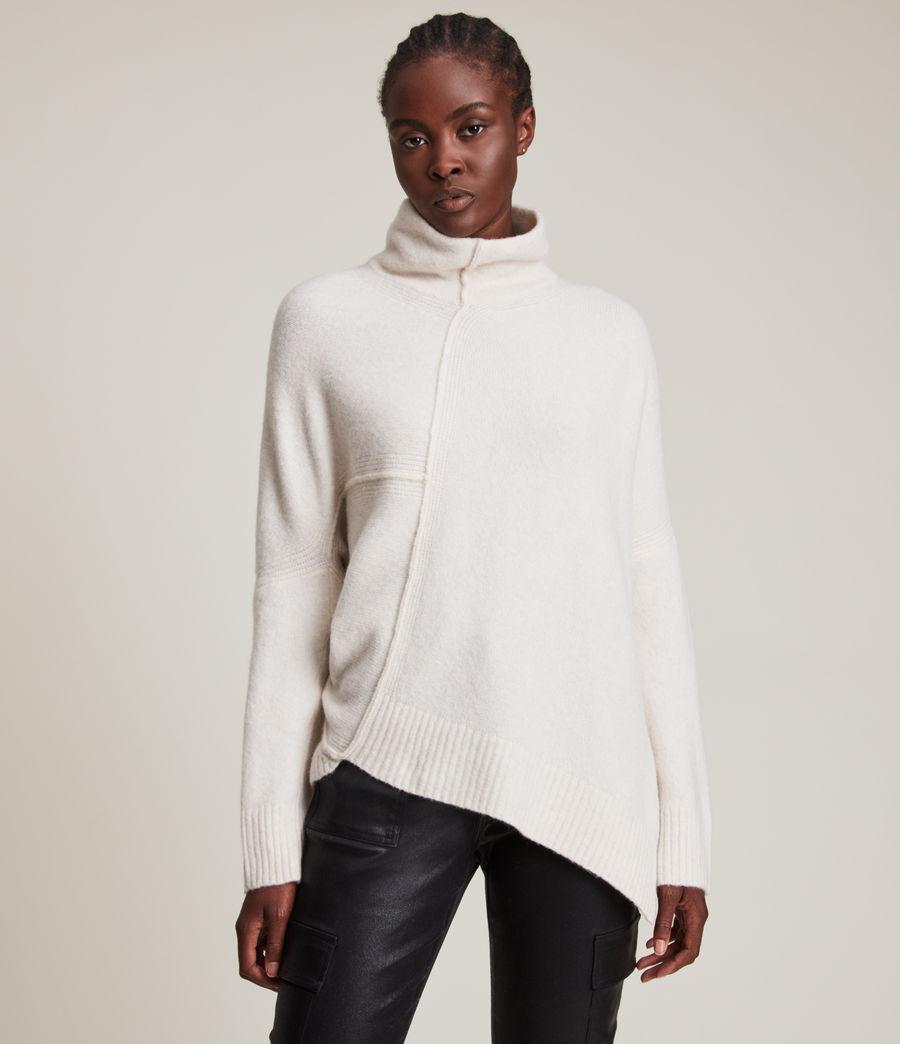 Womens Lock Roll Neck Sweater (alabaster_white) - Image 3