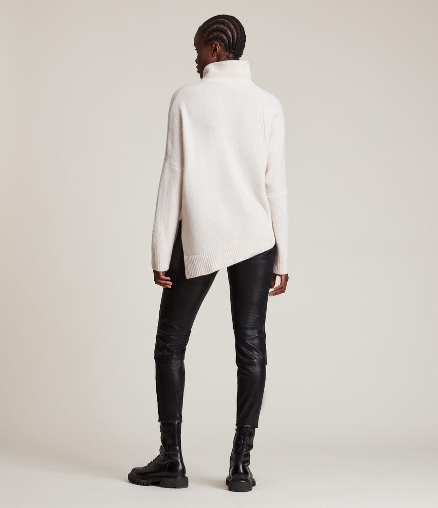 Womens Lock Roll Neck Sweater (alabaster_white) - Image 4