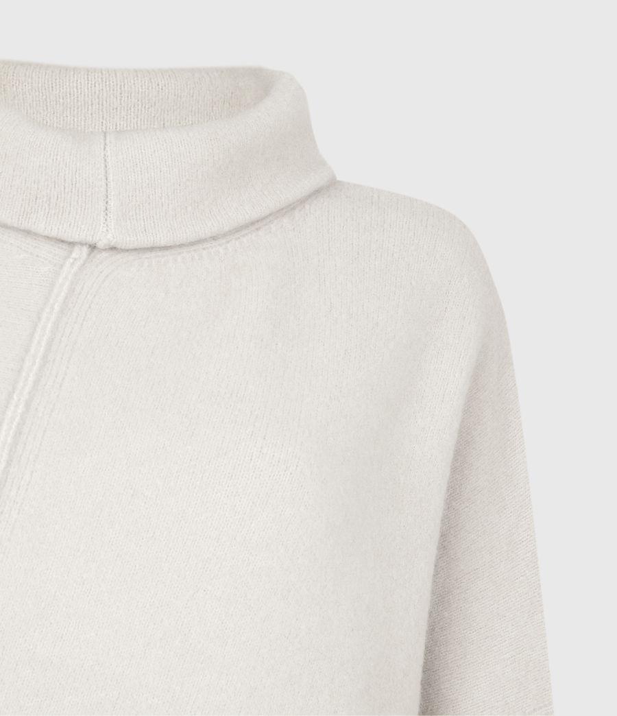 Womens Lock Roll Neck Sweater (alabaster_white) - Image 5