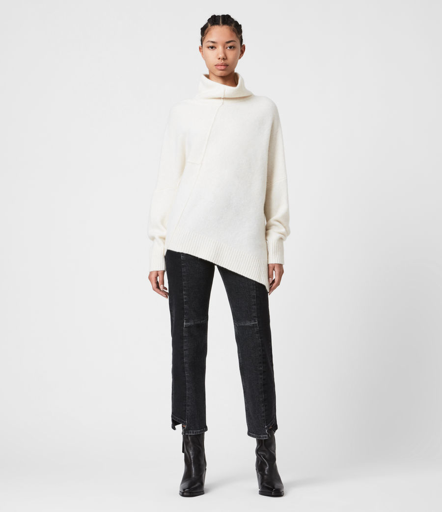 Womens Lock Roll Neck Sweater (alabaster_white) - Image 7