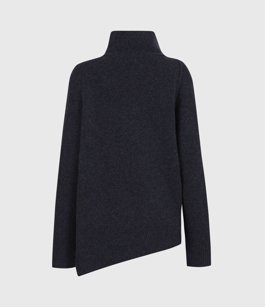 Womens Lock Roll Neck Sweater (total_eclipse_blue) - Image 3