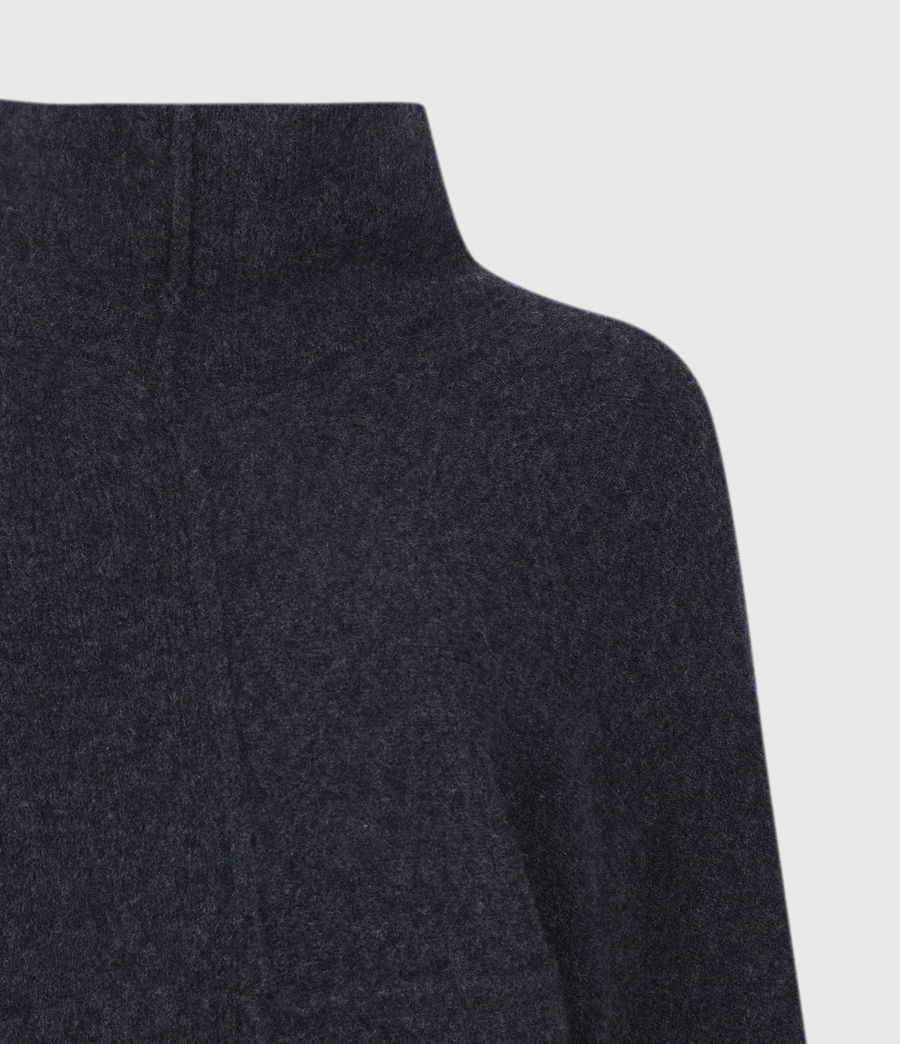 Womens Lock Roll Neck Sweater (total_eclipse_blue) - Image 5