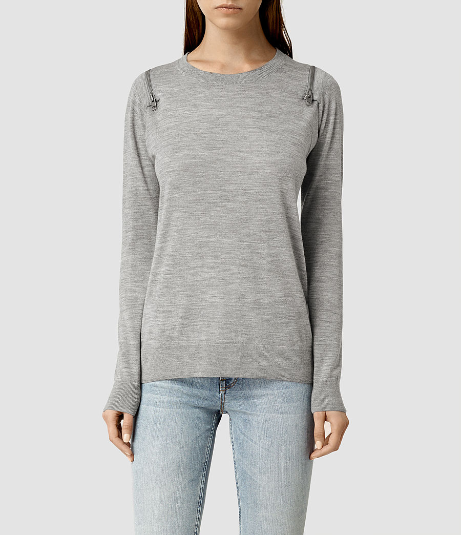 Womens Dash Jumper (grey_marl) - Image 1
