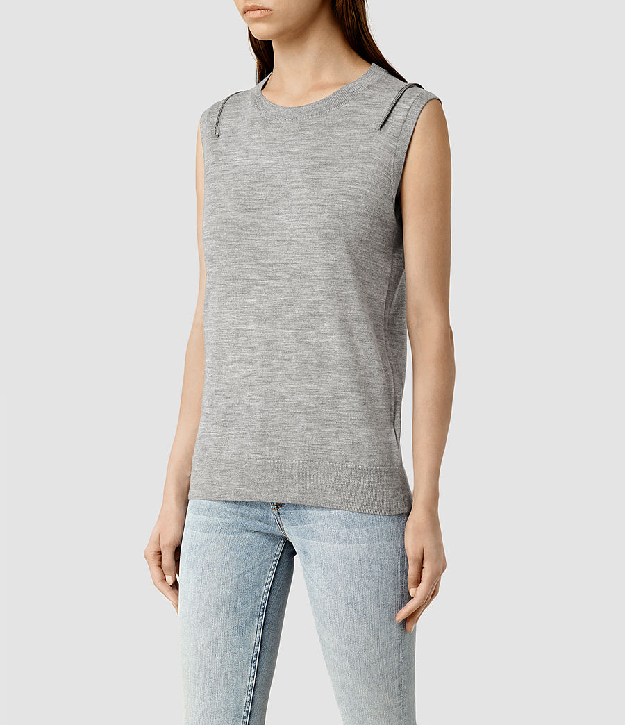 Womens Dash Jumper (grey_marl) - Image 2