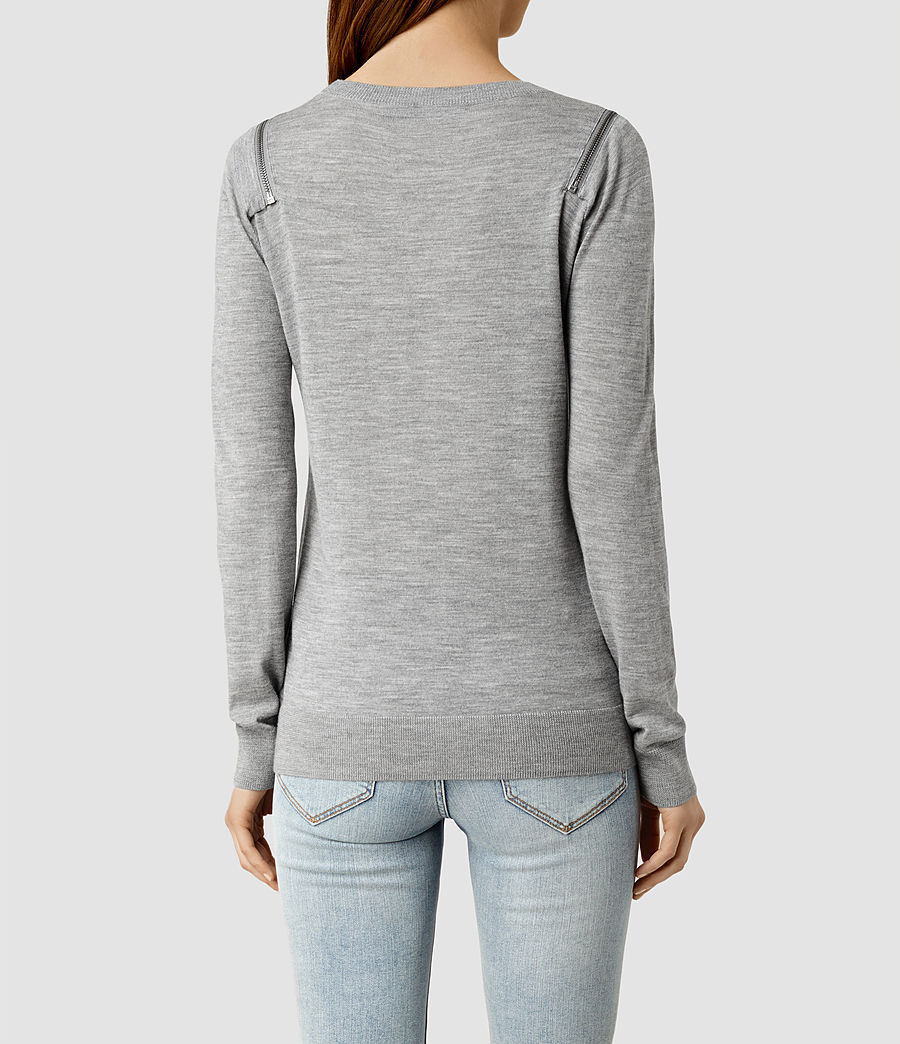 Womens Dash Jumper (grey_marl) - Image 3
