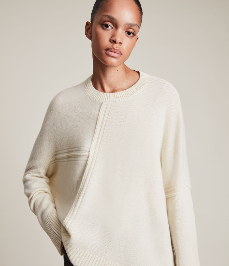 Womens Lock Cashmere Blend Sweater (ivory_white) - Image 2