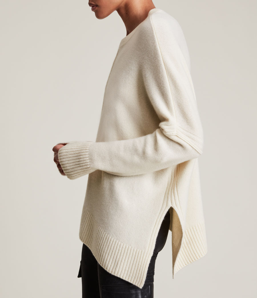 Womens Lock Cashmere Blend Sweater (ivory_white) - Image 6