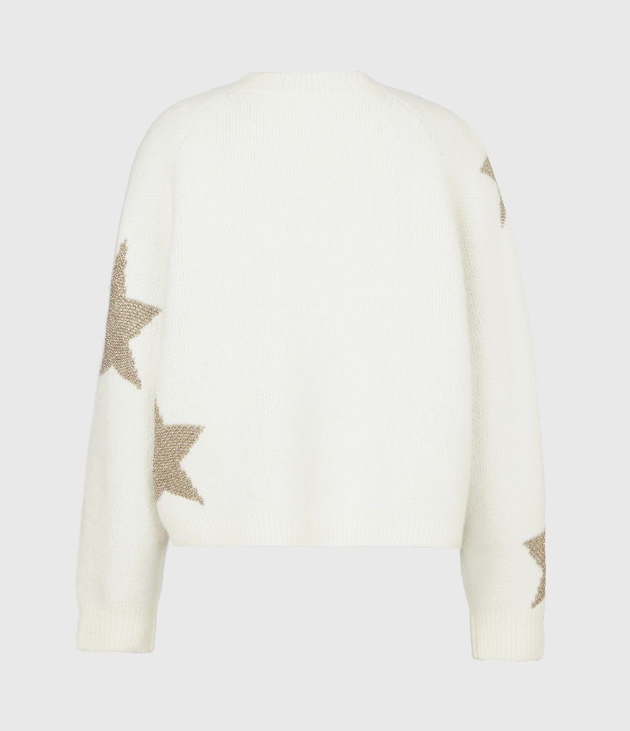 Womens Star Sweater (ivory_gold) - Image 3