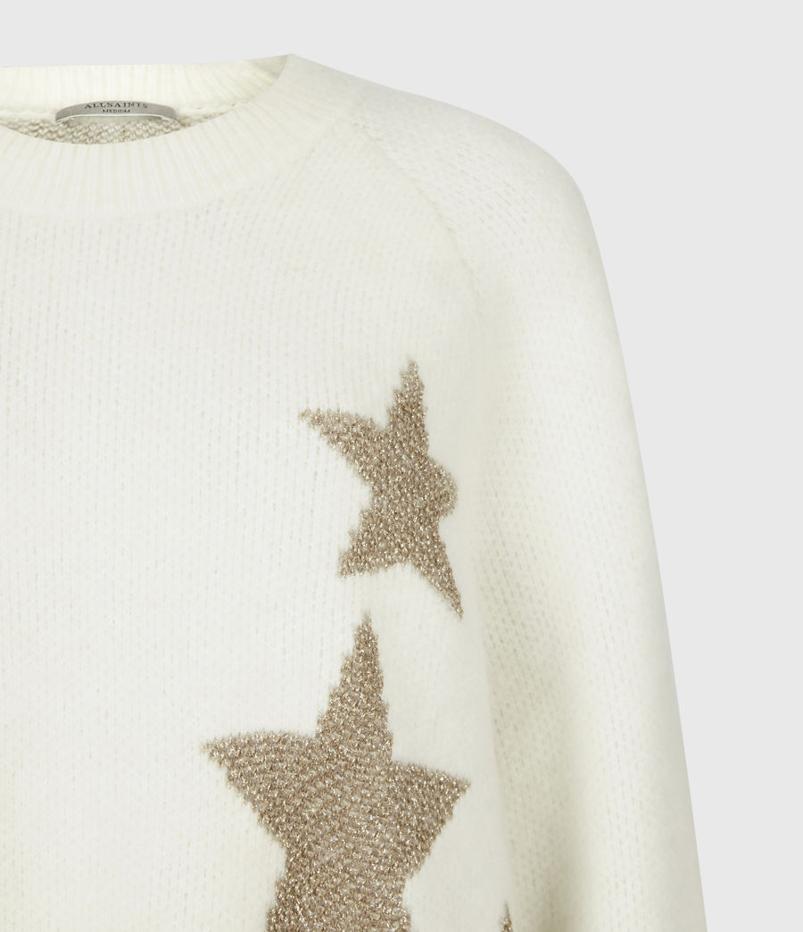 Womens Star Sweater (ivory_gold) - Image 5