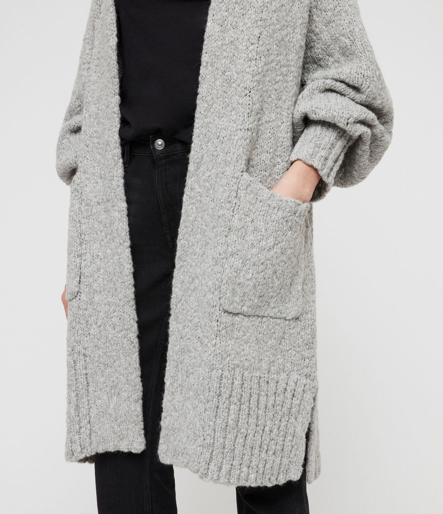 Womens Alicia Cardigan (pale_grey) - Image 2