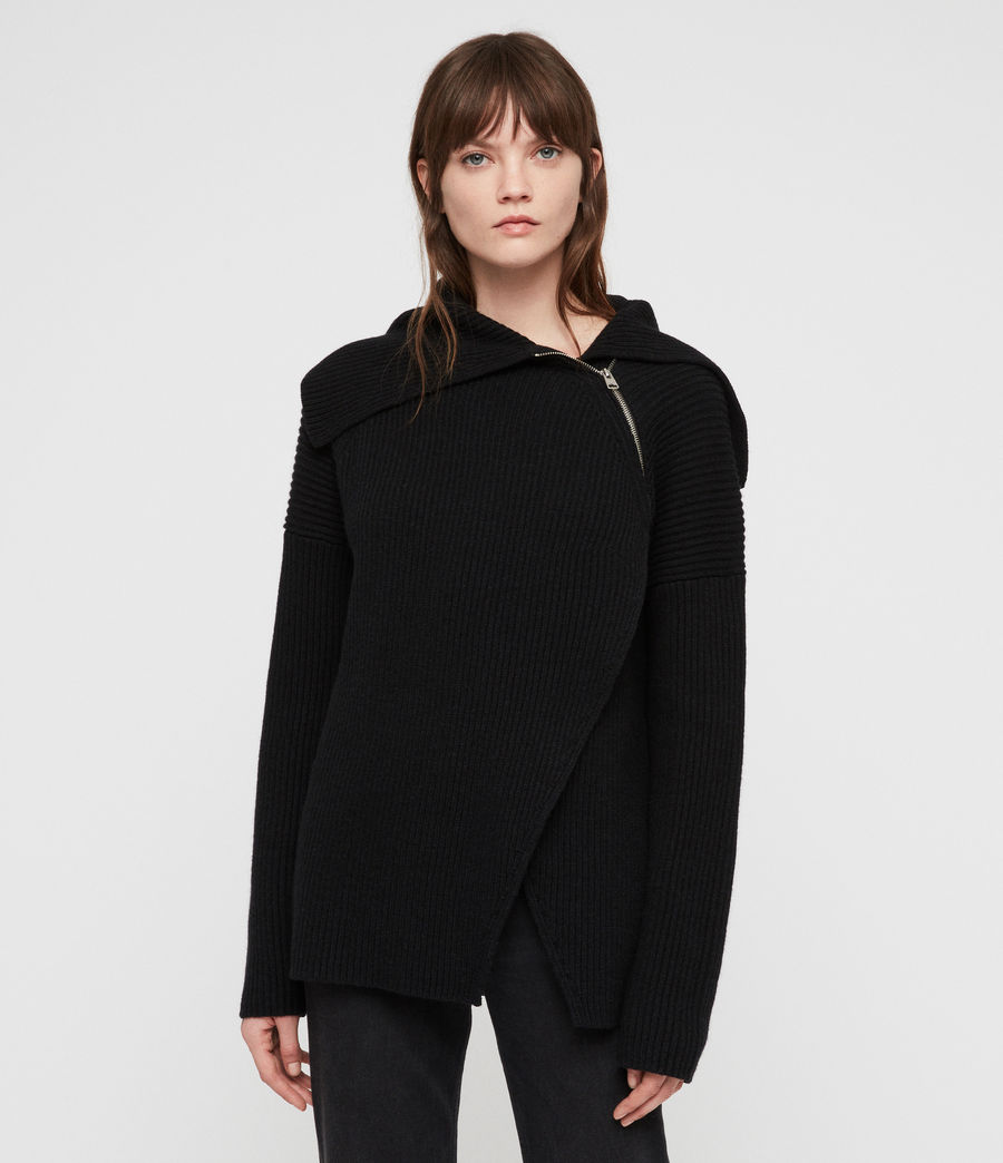 Women's Tallis Cardigan (black) - Image 1