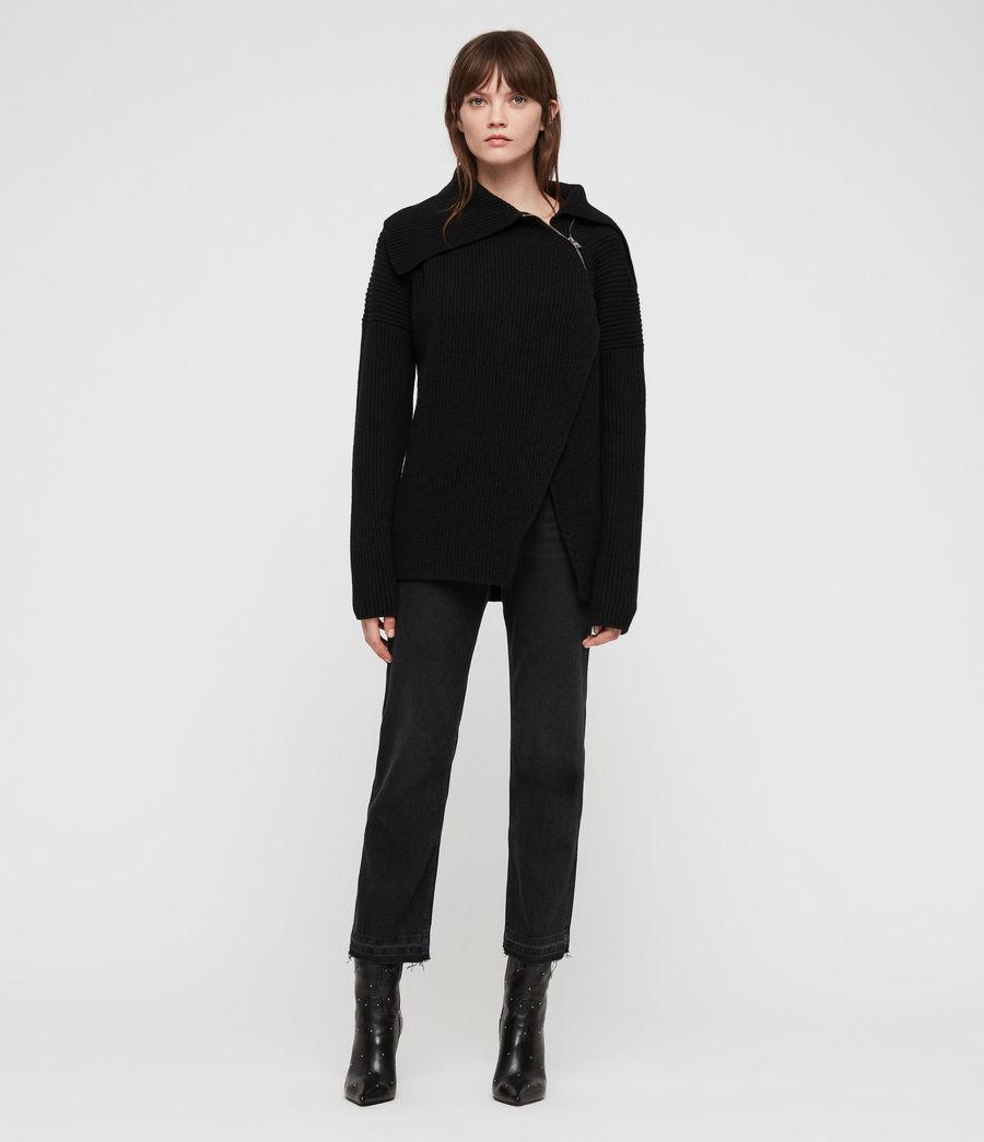 Women's Tallis Cardigan (black) - Image 3