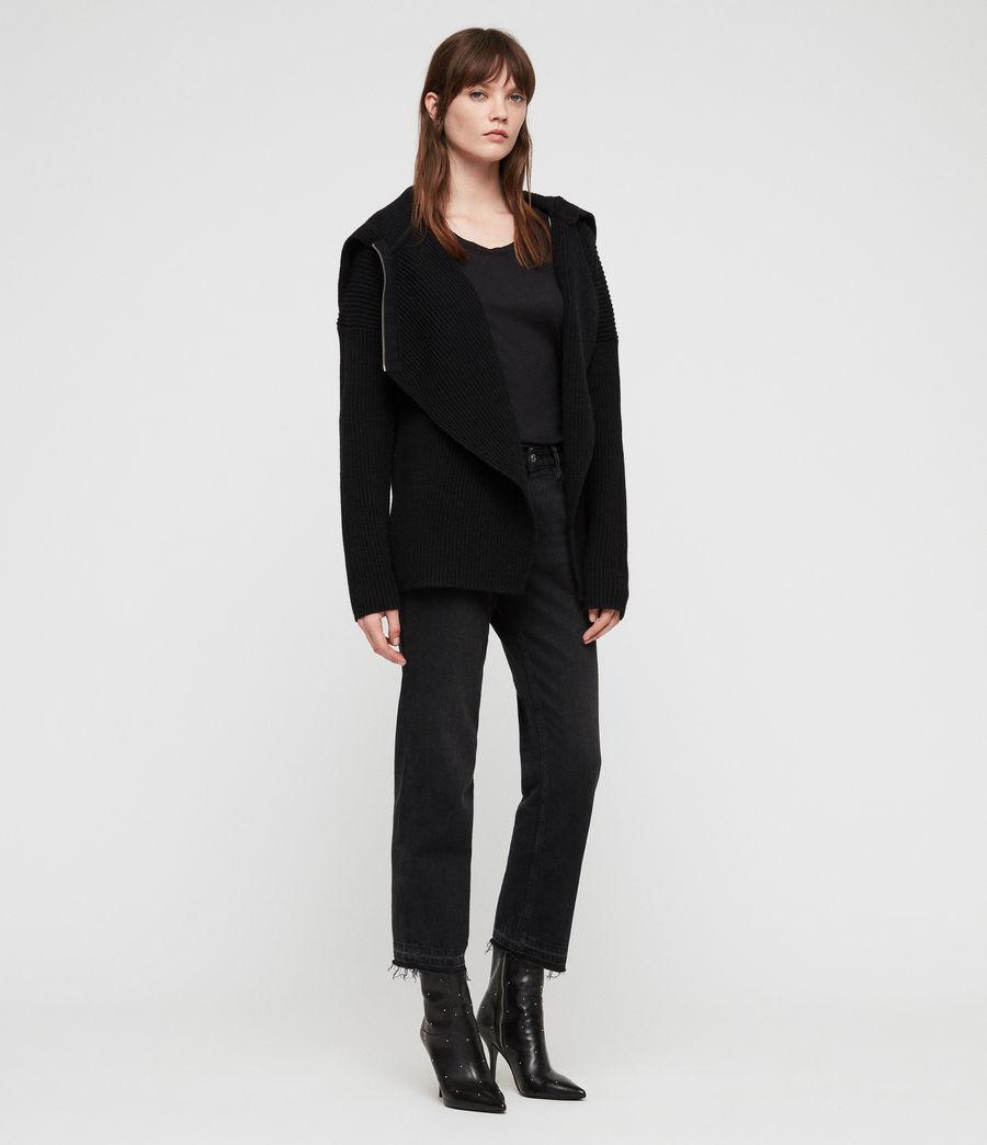 Women's Tallis Cardigan (black) - Image 4