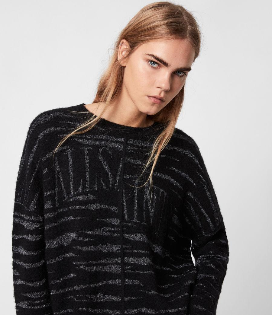 Womens Split Saints Tiger Sweater (black_silver) - Image 1