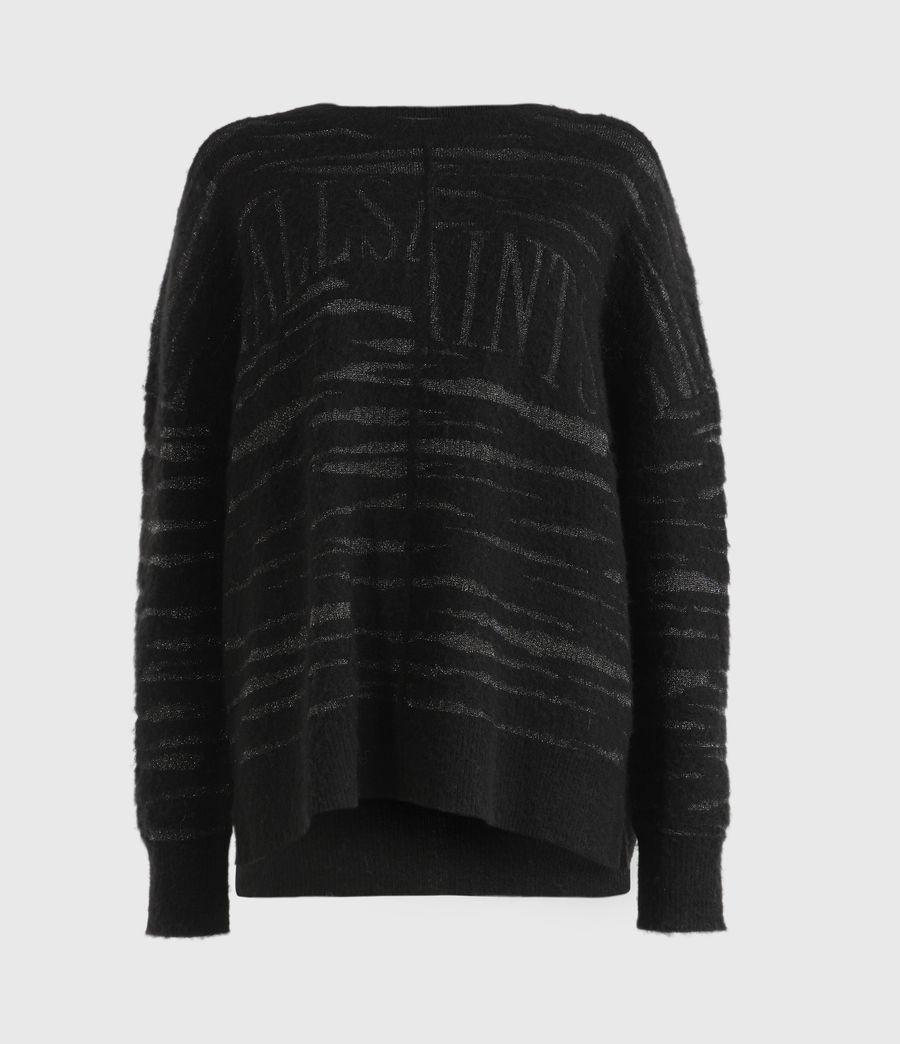 Womens Split Saints Tiger Sweater (black_silver) - Image 2