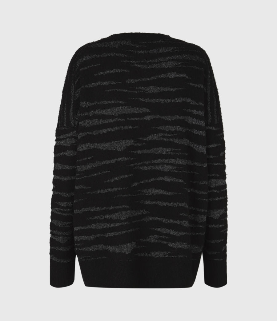 Womens Split Saints Tiger Sweater (black_silver) - Image 3