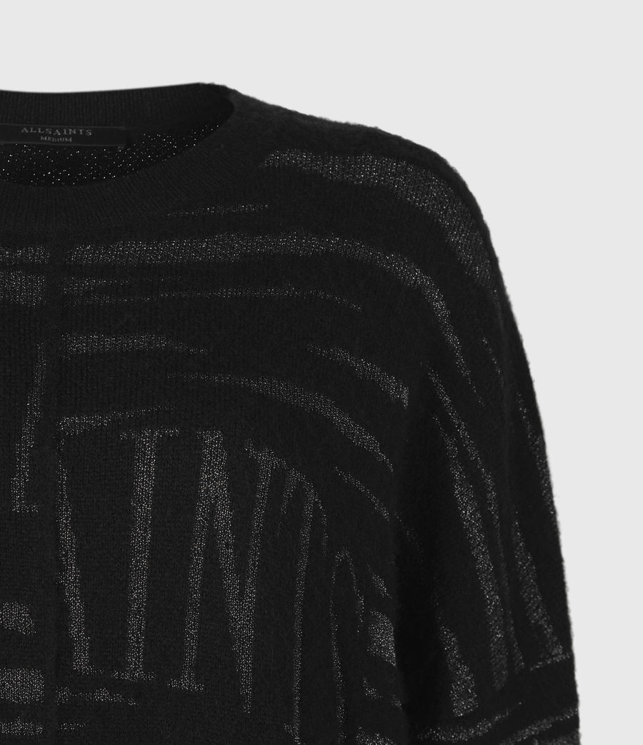 Womens Split Saints Tiger Sweater (black_silver) - Image 5