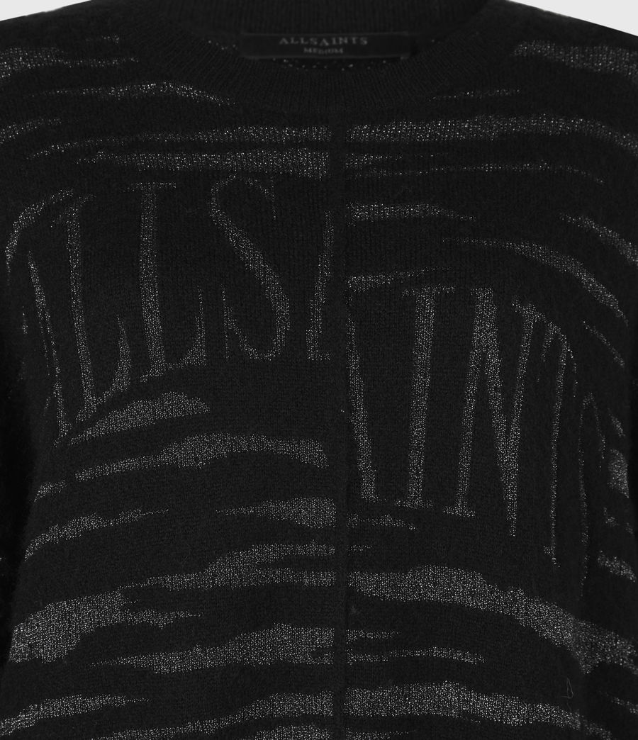 Womens Split Saints Tiger Sweater (black_silver) - Image 6