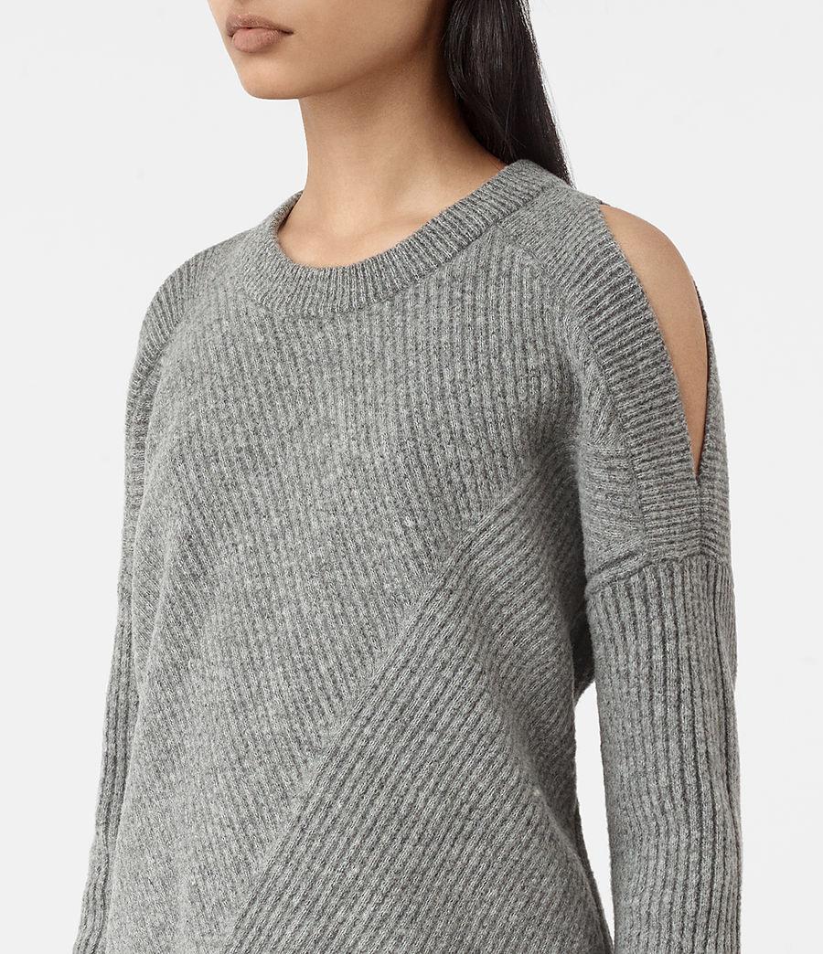 Womens Terra Open Shoulder Sweater (grey_marl) - Image 2