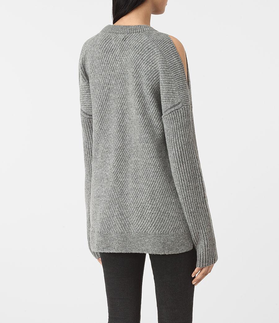 Womens Terra Open Shoulder Sweater (grey_marl) - Image 4