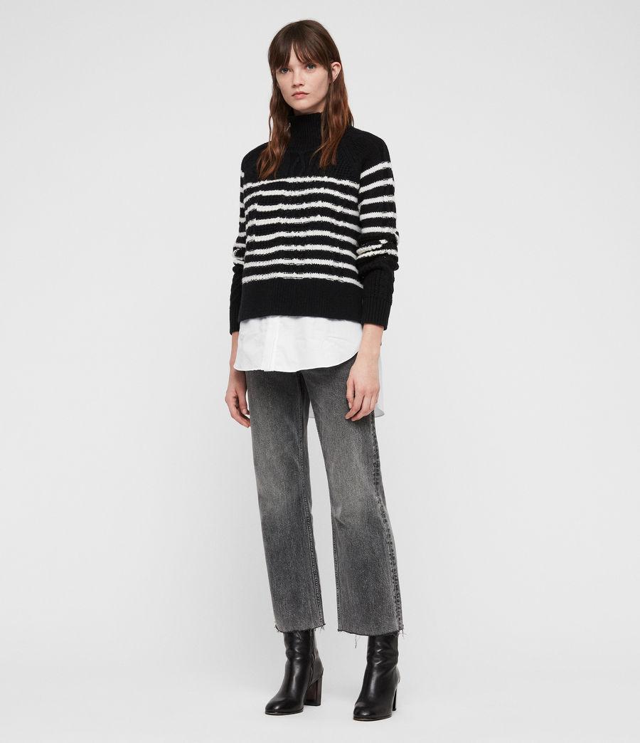 Womens Mari Roll Neck Sweater (black_chalk) - Image 1