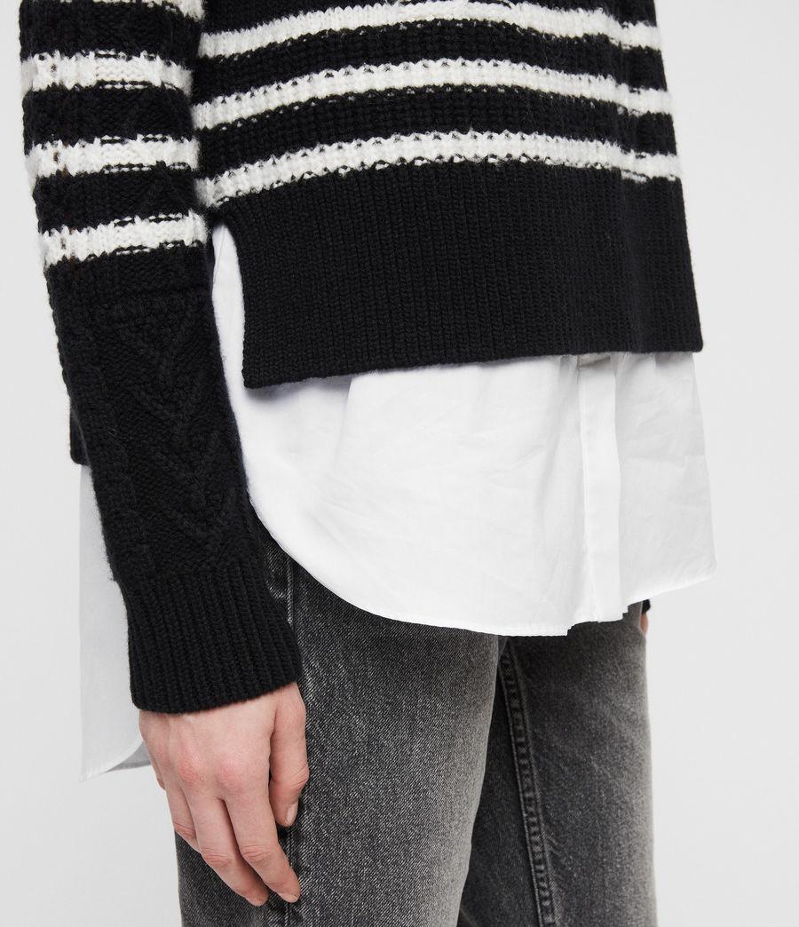 Womens Mari Roll Neck Sweater (black_chalk) - Image 2