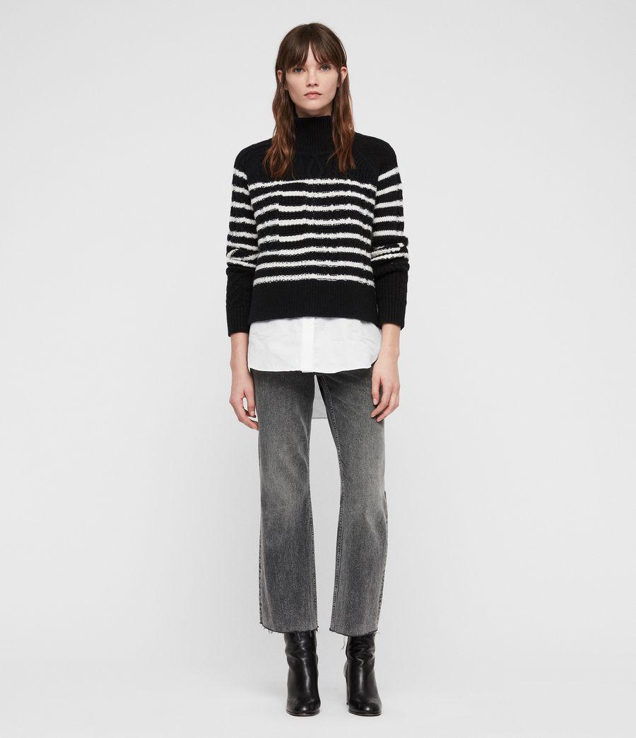 Womens Mari Roll Neck Sweater (black_chalk) - Image 3