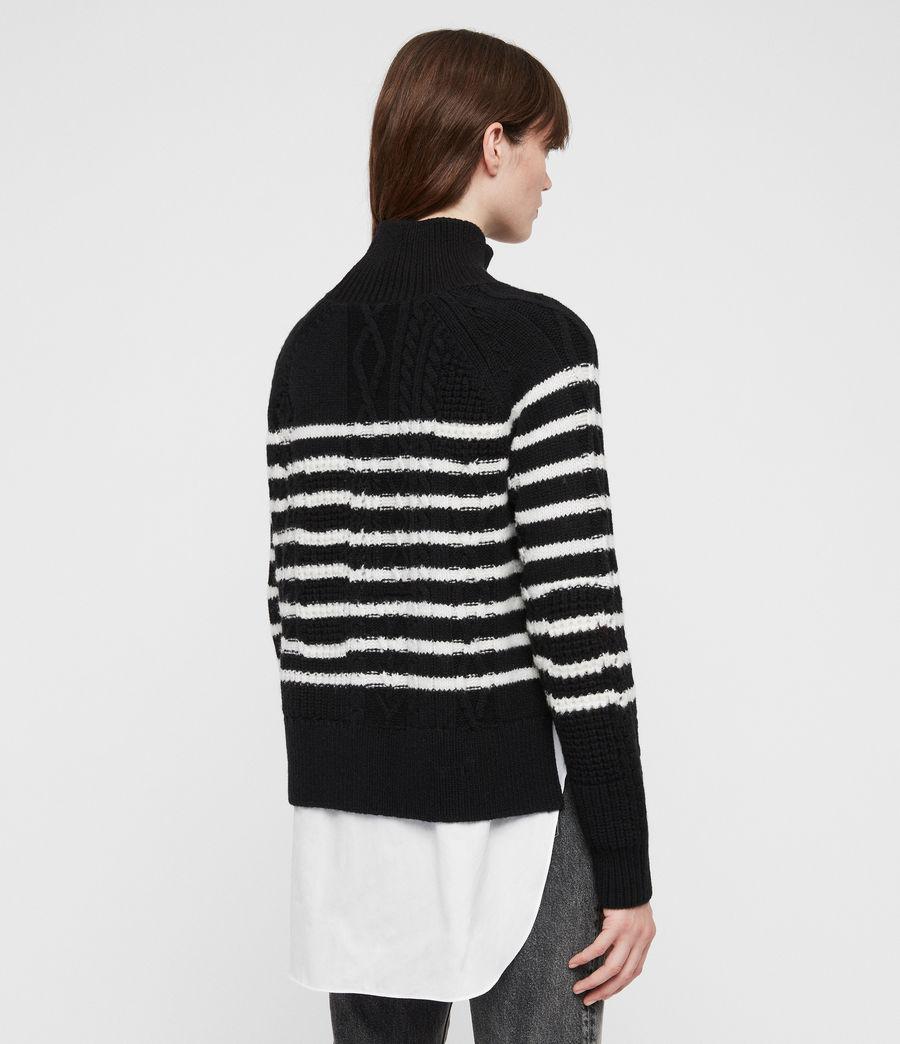 Womens Mari Roll Neck Sweater (black_chalk) - Image 6