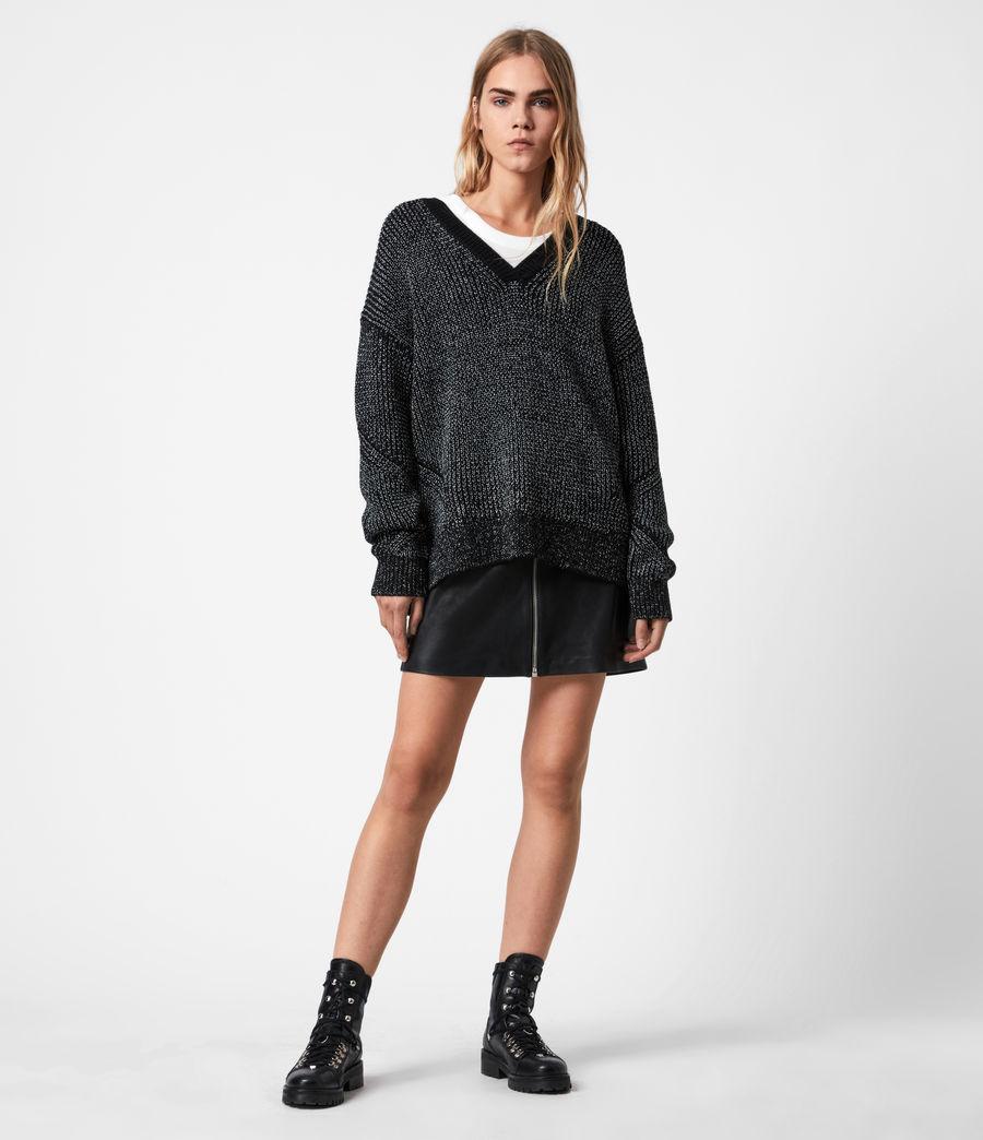 Womens Quinta Shine Sweater (black_silver) - Image 1