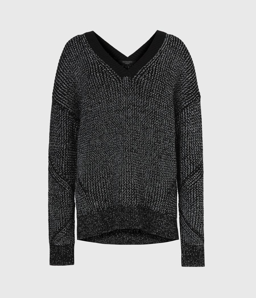 Womens Quinta Shine Sweater (black_silver) - Image 2