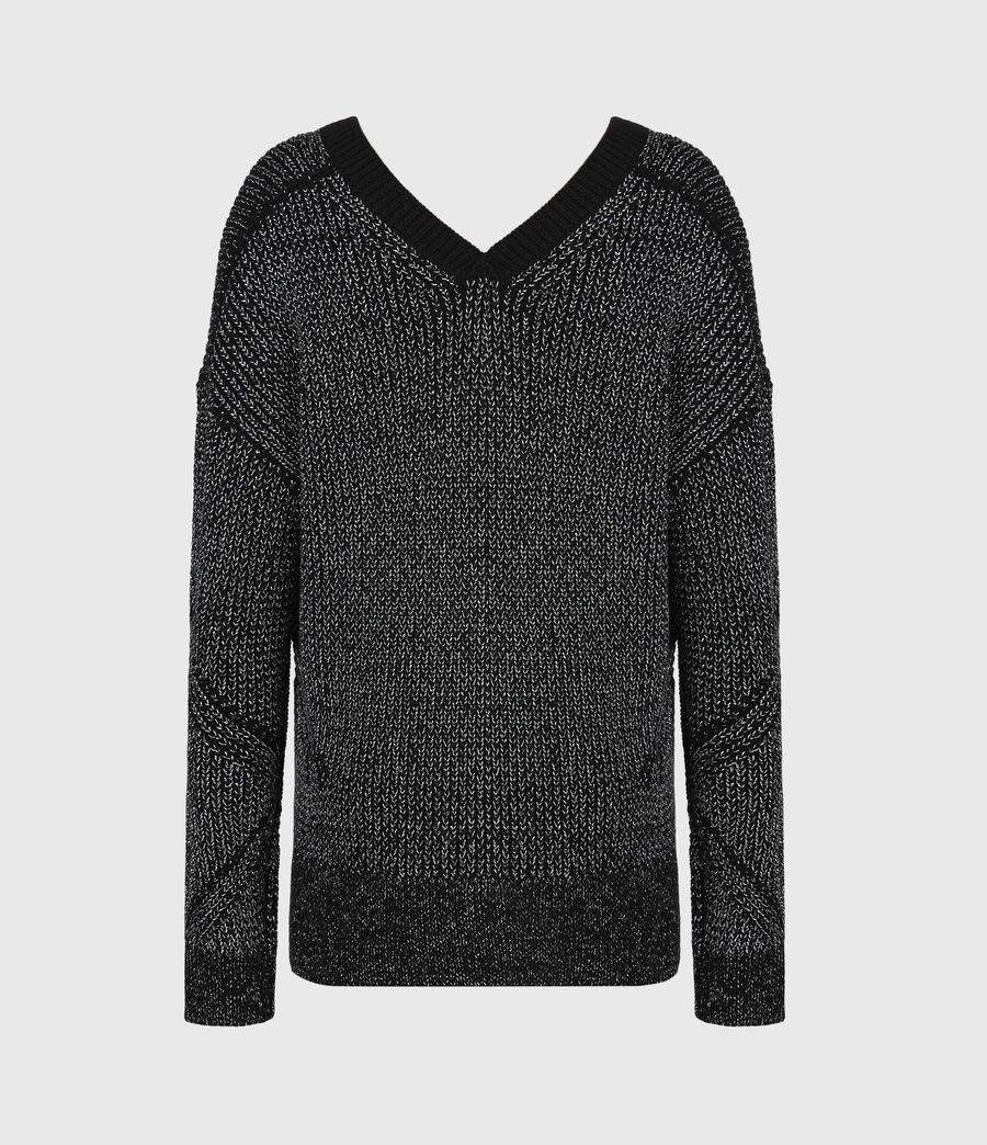 Womens Quinta Shine Sweater (black_silver) - Image 3