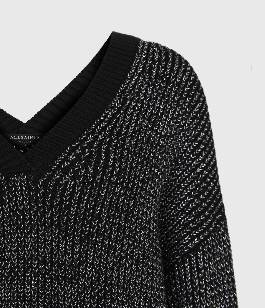 Womens Quinta Shine Sweater (black_silver) - Image 4