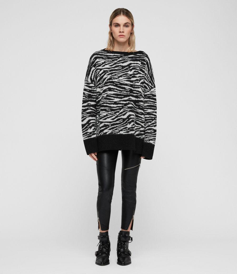 Womens Tiger Sweater (cinder_black_chalk) - Image 1