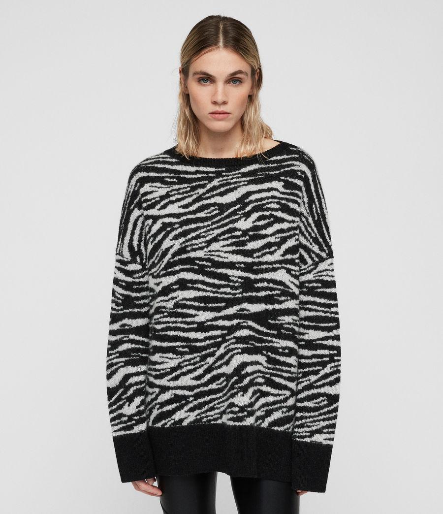 Womens Tiger Sweater (cinder_black_chalk) - Image 2