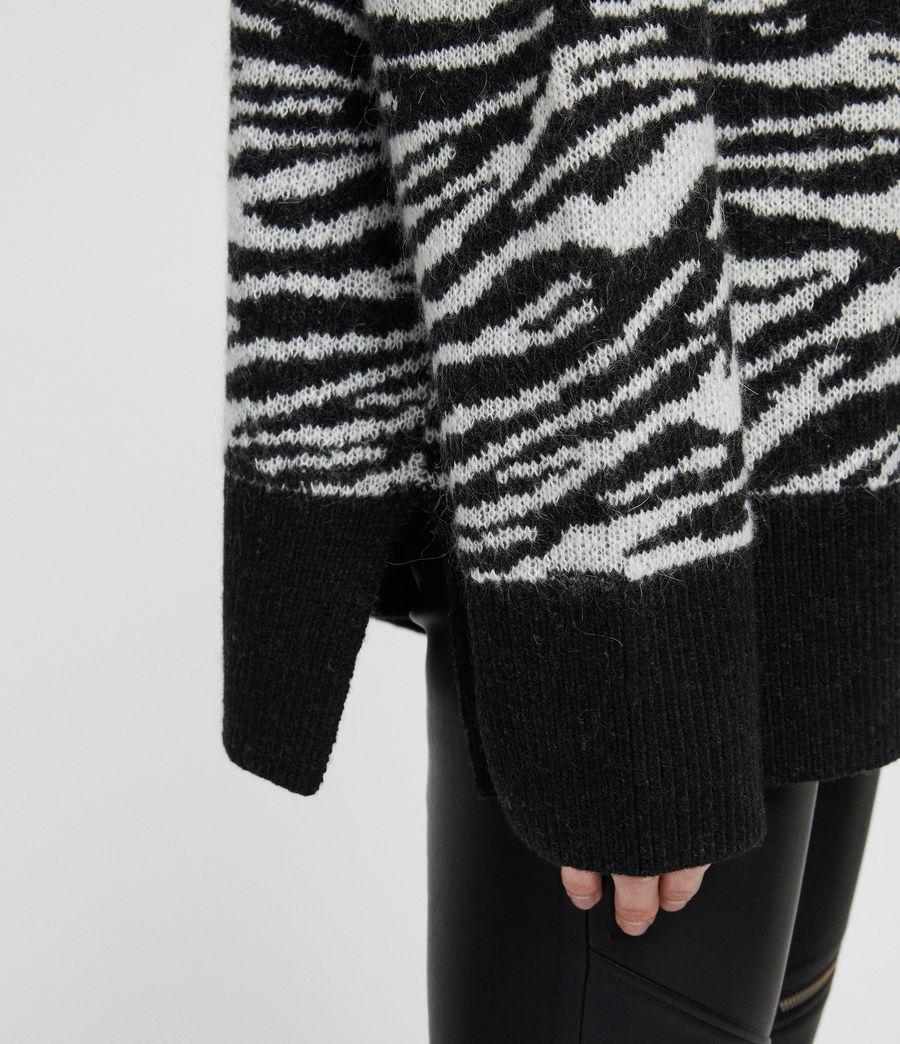 Womens Tiger Sweater (cinder_black_chalk) - Image 3