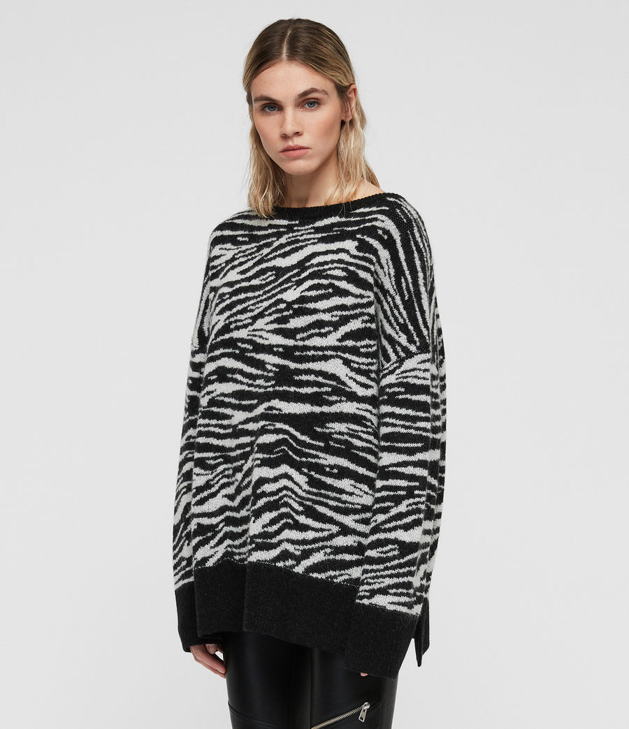 Womens Tiger Sweater (cinder_black_chalk) - Image 4