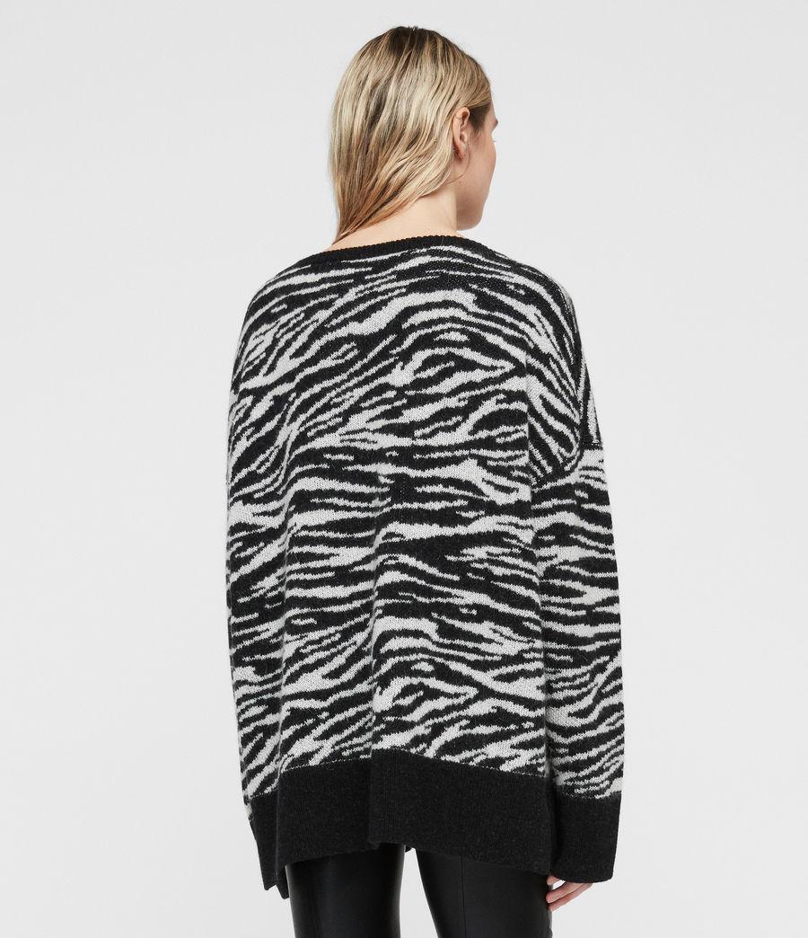 Womens Tiger Sweater (cinder_black_chalk) - Image 5